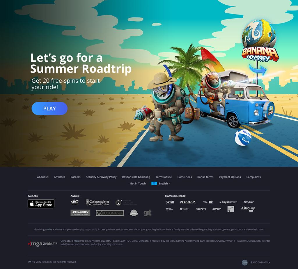 Banana Odyssey Summer Campaign Landing Page Original